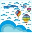 air balloon composition vector image