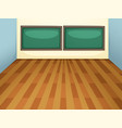 an empty classroom at school vector image vector image