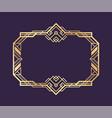 art deco gold frame decorative vintage