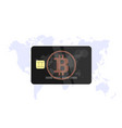 bitcoin black bank card vector image vector image