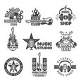 black music labels vintage vinyl cover record vector image vector image