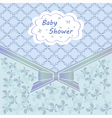Blue baby shower vector image