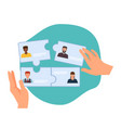 business collaboration new team forming hr hires vector image