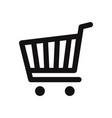 cart icon vector image vector image