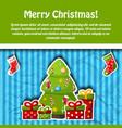 christmas holiday postcard vector image