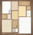 Collection of various vintage paper designs paper vector image vector image