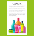 cosmetic poster and text vector image