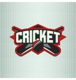 cricket sport logo vector image