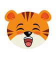 cute tiger kawaii character vector image