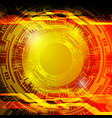cyber circle background vector image vector image