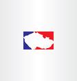 czech republic logo map icon vector image vector image