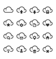 Data Cloud with Different Signs Icon Set vector image vector image