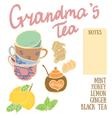 Delicious autumn grandmas tea recipe with lemon vector image vector image