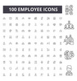 employee line icons signs set outline vector image vector image