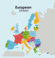 european union map design vector image