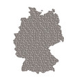 germany map abstract schematic from black ones vector image