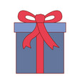 gift box icon with decorative ribbon in colorful vector image vector image