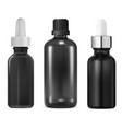 glass serum bottle essential oil cosmetic mockup vector image vector image