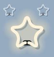 glowing neon star EPS10 vector image vector image
