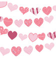 happy valentines day gingham love heart hanging vector image vector image