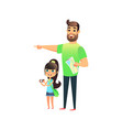 happy young man and cute smiling girl travel and vector image vector image