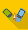 hard collision icon flat style vector image
