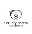 logo cctv camera security system vector image