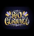 logo for carnival in rio de janeiro vector image vector image