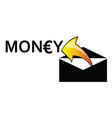 money letter envelope arrow vector image vector image