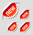 new labels vector image vector image
