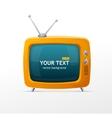 orange retro TV vector image vector image