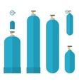 Oxygene tanks set vector image vector image