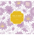 Purple shadow florals frame seamless pattern vector image