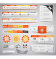 Quality clean web elements for blog and sites vector image vector image