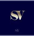 s v monogram logo combined letters premium emblem vector image vector image