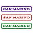 san marino watermark stamp vector image vector image