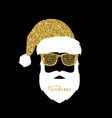 santa claus with hat and glasses shutter shades vector image vector image