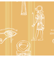 seamless background with motive of ancient Egypt vector image