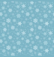 seamless pattern with snowflakes for background vector image vector image