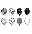 set different balloons vector image vector image