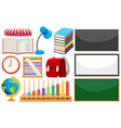 set learning element vector image