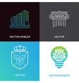 Set logo design templates and emblems