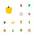 set of berry icons flat style symbols with salad vector image