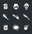 set of game monsters icons vector image