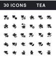 set simple icons tea vector image