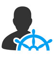 ship captain flat icon vector image vector image