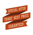 Special offer vintage styled ribbon vector image