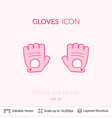 sport gloves icon isolated on white vector image vector image