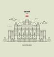 state opera housel in vienna austria vector image