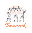 teamwork poster and team vector image